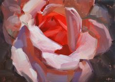 Carol Marine's Painting a Day: Hot For You Rose