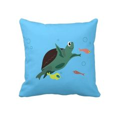 Turtle Pillow http://www.zazzle.com/turtle_american_mojo_pillow-189808571511757502?gl=PhotosVac&rf;=238606949148330765