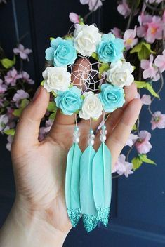Glitter Turquoise Car Dreamcatcher: interior car accessories for - # car accessories . - Glitter Turquoise Car Dreamcatcher: interior car accessories for – # Car accessories - Car Accessories For Women, Car Interior Accessories, Bag Accessories, Dream Catcher Decor, Dream Catchers, Dream Catcher Mobile, Fun Crafts, Diy And Crafts, Baby Room Art