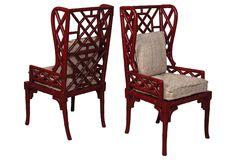 Bamboo Wingback Chairs