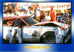 David Pearson 1976 Mercury | David Pearson's Mercury in Victory Lane after last lap crash with ...