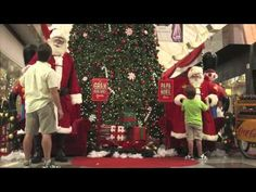 cute. even parents can find happiness with coke...and big santa!