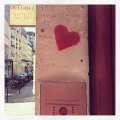 #paris #love #street art #heart #coeur