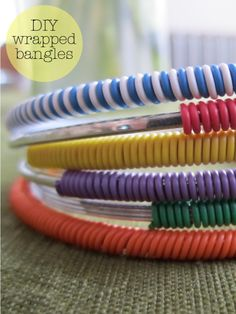 DIY Wrapped Bangles