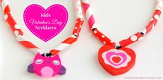 Looking for a cute Valentine's Day activity to do with the kids or to use as a project for a school party? These Easy Kids Valentine's Day Necklaces are a perfect Valentine's Day Craft. sunshineandhurricanes.com