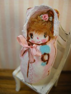 ooak pillow doll for your dolls by LittleBearPaws on Etsy, $12.50