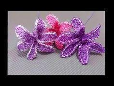 İğne Oyaları Sümbül Çiçeği Yapımı - YouTube
