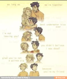 The evolution of Percabeth this made me tear up a little because think about all those years of percabeth and cringing but in the end your so proud of our Percabeth