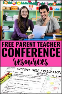 Free parent teacher conferences resources, including a student self evaluation.  These are great for elementary teachers!