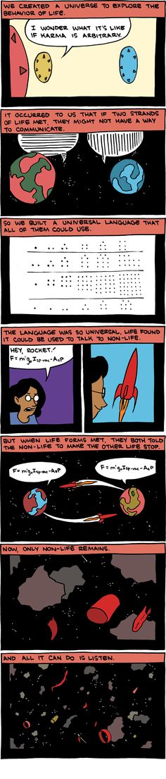 A rather sad way to convey the power of math - touching  - SMBC
