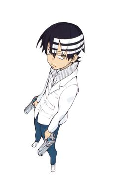 """Death the Kid , or commonly referred to as """"Kid"""", is a powerful shinigami and meister of the Demon Twin Guns. Serving as Death's second apprentice and son, he is his father's next heir in inheriting his responsibilities."""