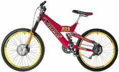 In there wasn't a cooler downhill bike than a Tomac Magnum. Downhill Bike, Mtb Bike, Bmx Bikes, Mountain Bike Frames, Mountain Biking, Bmx Helmets, Mongoose Mountain Bike, Best Bmx, Moutain Bike