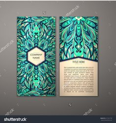Flyer With Floral Mandala Pattern And Ornaments. Vector Flyer Oriental Design Layout Template, Size. Islam, Arabic, Indian, Ottoman Motifs. Front Page And Back Page. Easy To Use And Edit. - 417321739 : Shutterstock
