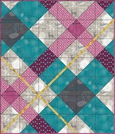Clan Man quilt design made @ Pattern Jam--- choose pattern, customize layout and size of block and then buy, $6 and up.