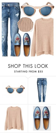 """""""Outfit Of the Day"""" by smartbuyglasses ❤ liked on Polyvore featuring Cutler and Gross, H&M, MANGO, Gucci and Miu Miu"""