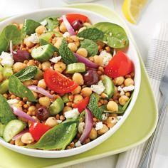 Salade de pois chiches et lentilles à la grecque - Recettes - Cuisine et nutrition - Pratico Pratique