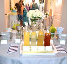 Vintage Cars in a Pottery Barn Garden Themed Baby Shower