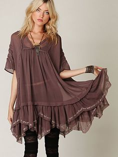 beaded ruffle bottom dress from freepeople