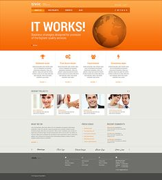 72 best business website templates images on pinterest in 2018 template 44573 tivic business website template friedricerecipe Image collections