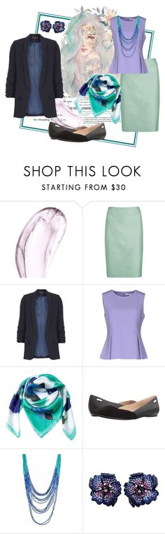 """Work Attire"" by liahayes ❤ liked on Polyvore featuring Chantecaille, Armani Collezioni, Dorothy Perkins, Diane Von Furstenberg, Siladora, Calvin Klein and La Fleur Jewels"