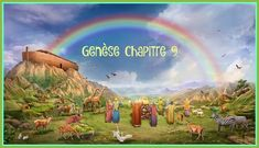 The Covenant of the Rainbow - Genesis 9 1 And God blessed Noah and his sons, and said to them, Be fruitful, and multiply, and replenish the earth. 2 And the Images Bible, Bible Pictures, Rainbow Bible, Bible Stories, Knowing God, The Covenant, Beast, Blessed, Earth 2