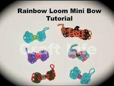Rainbow Loom Mini Bow Tutorial