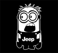 JEEP Minion Decal Sticker Car Decal Laptop Decal - Choice of Colors on Etsy, $4.99