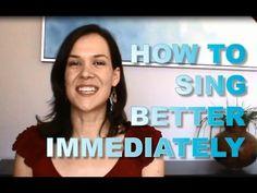 How to sing better immediately. www.singerssecret.com #singing
