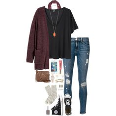 heyyy beautiful  by thatprepsterlibby on Polyvore featuring R13, H&M, Frame Denim, J.Crew, Free People, Converse, T-shirt & Jeans, Kendra Scott, Kate Spade and BaubleBar     LOVE LOVE LOVE