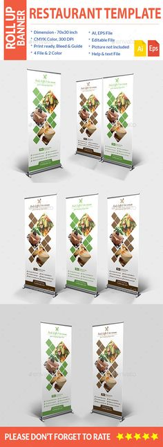 Food Roll up Banner Template #design Download: http://graphicriver.net/item/food-roll-up-banner/11585444?ref=ksioks