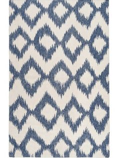 House decorating trends that are here to stay. Navy Blue and Off Whit Diamond Ikat Dhurrie Rugs