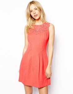Enlarge Oasis Trim Fit and Flare Dress