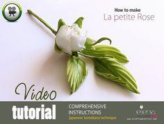"Complete video tutorial in Somebana technique silk flower art ""La petite Rose"" ❤ https://www.youtube.com/watch?v=meWHWX7MO9A"
