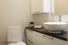 Home White Home: Suunnittelukohteeni: Pikkuwc:n muutos Decor, Home, Vanity, Bath, Bathroom Vanity, White Houses, Bathroom, White