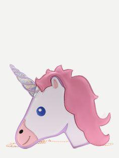 Bolso en forma de unicornio con cadena -Spanish SheIn(Sheinside)