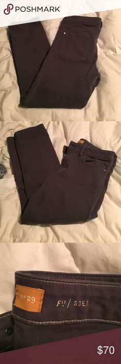 Gray pants Super comfy stretchy tight fit grey pants. Crop at the bottom Anthropologie Pants Ankle & Cropped