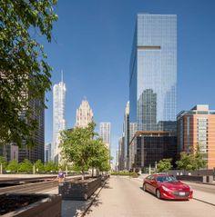 Optima Chicago Center: Sleek, elegant and modern downtown Chicago architecture.