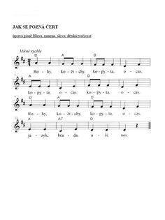 Čert Kids Songs, Advent, Sheet Music, Preschool, Christmas, Africa, Projects, Yule, Children Songs