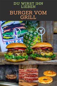 Was für ein Burger Rezept! Perfekt für den Sommer oder die nächste WM Party. Denn dieser Burger kommt vom Grill. Du wirst ihn lieben! #grillenrezepte #burgerrezept #wmpartyrezepte #bbq
