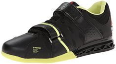 Reebok Womens Women's Fitness and Cross-Training Shoesfit Lifter Plus20 Training Shoe BlackHigh Vis Green 85 M US -- Want additional info? Click on the image.
