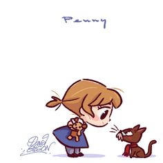 Chibies of Disney's Penny & Rufus , Jenny & Oliver , Penny & Bolt https://www.facebook.com/artofdavidgilson/