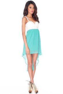 Ring Around the Lacey Dress in Jade