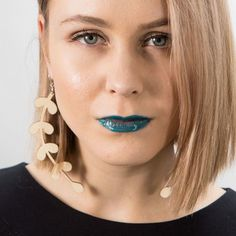 Earrings Storm are printed onto 3 mm sustainably sourced Finnish birch plywood PEFC and FSC certified wood. Septum Ring, Drop Earrings, Jewelry, Design, Fashion, Moda, Jewlery, Jewerly, Fashion Styles