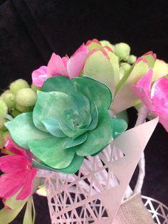 Succulentes en papiers. Création by deelina