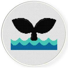 FREE Whale Tail Cross Stitch Pattern