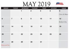 May 2019 Holidays Calendar