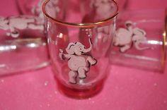 Pink elephant shot glasses, 1950s. @Nancy Joyes