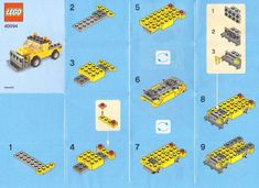 LEGO Monthly Mini Model Build - instructions for a number of mini builds including a rocking horse, tractors, snow ploughs, birds etc.