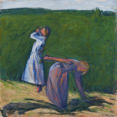 Helsinki Art Museum showcases Ellen Thesleff's trailblazing and evolving art Artist Painting, Figure Painting, Woman Painting, Watercolor Paintings, Museum Of Fine Arts, Art Museum, Female Painters, Louise Bourgeois, Wassily Kandinsky