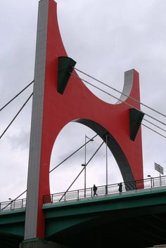 Basque Country, Bizkaia, Bilbao, La Salve Bridge